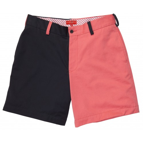 Club Short: Navy and Red